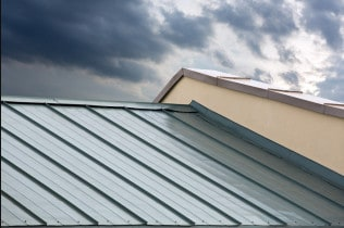 Metal Roofing During Storm